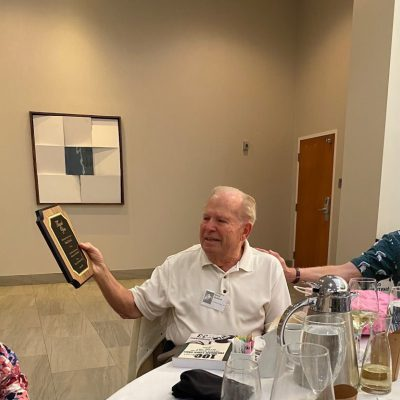 Fred Zydeck Receiving The Plaque From The Class Of 1966 During The 2021 Reunion