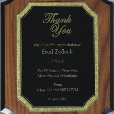 Zydeck Award From Class Of 1966