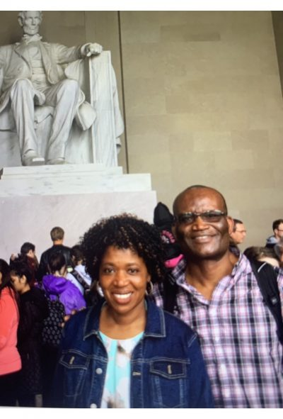 Lincoln Memorial Visit With Husband