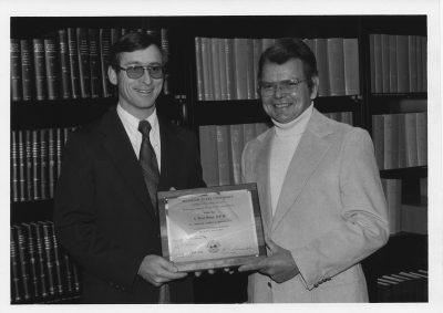 Schirmer-presents-plaque