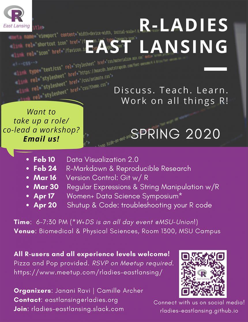 R Ladies Spring2020 Schedule