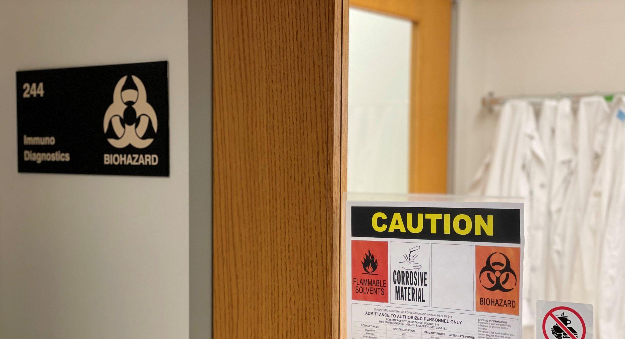 Immunodiagnostics Lab Entrance