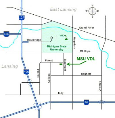 Map and Directions | College of Veterinary Medicine at MSU