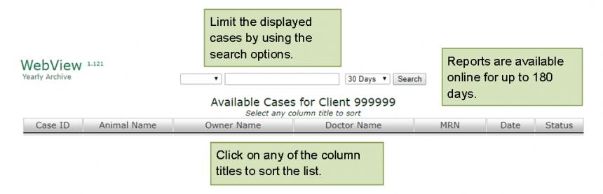 Web View Select A Case